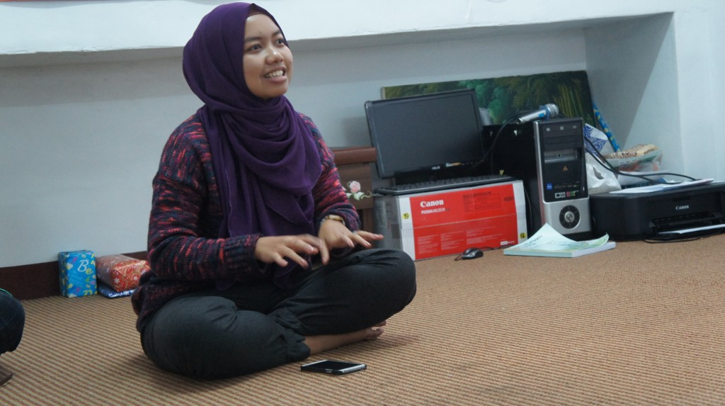 Gubernur FORMMIT Timur, Nurul Utami, memberikan laporan aktivitas kepengurusannya